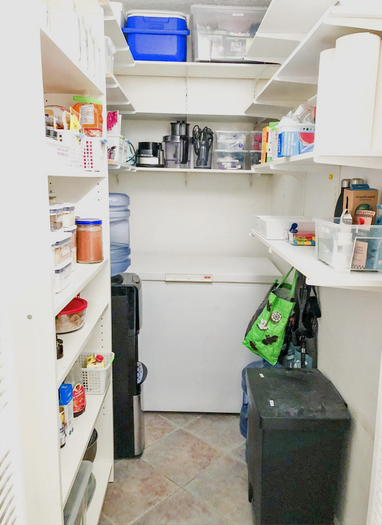 Organized and clean pantry closet in the Tri-Cities.