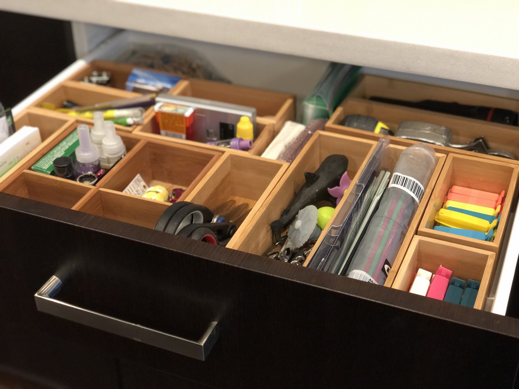 Organized drawer.